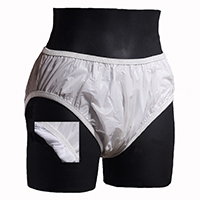 Cloud Flannel lined plastic pants brief