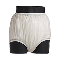 Plastic pants for cloth diapers