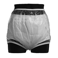 UltraSoft transparent plastic pant Hi Back cut