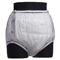 UltraSoft transparent snap-on plastic pants full cut