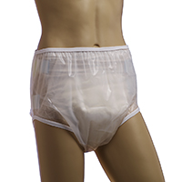 Teen youth size plastic pants